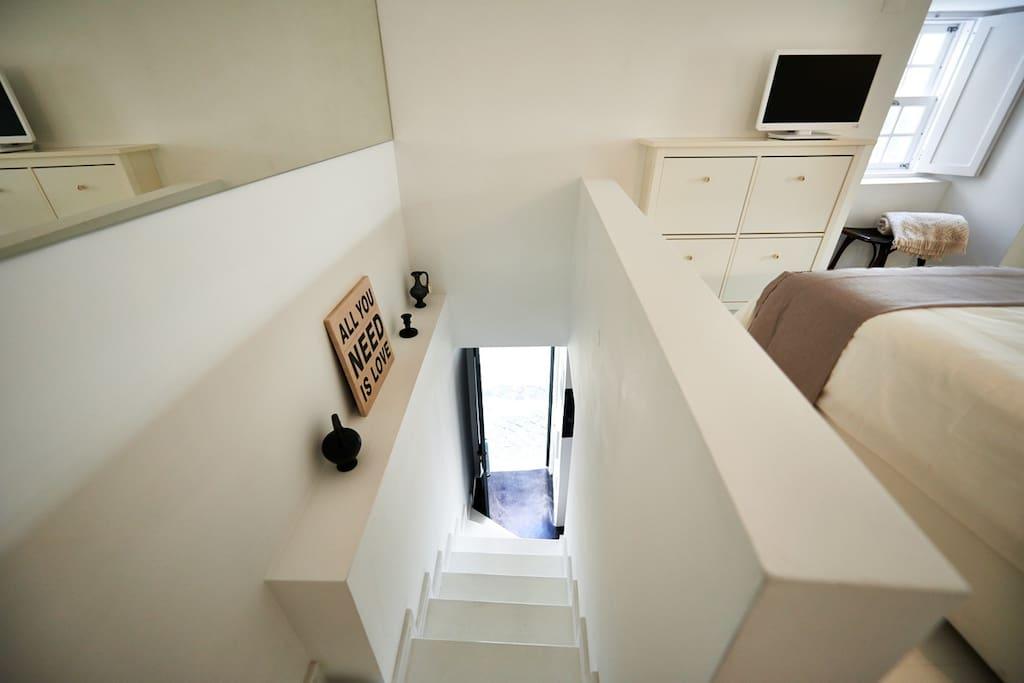 Bedroom access - top floor