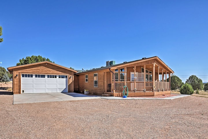 Eco-Conscious Cedar City Cabin w/ Deck & Mtn View!