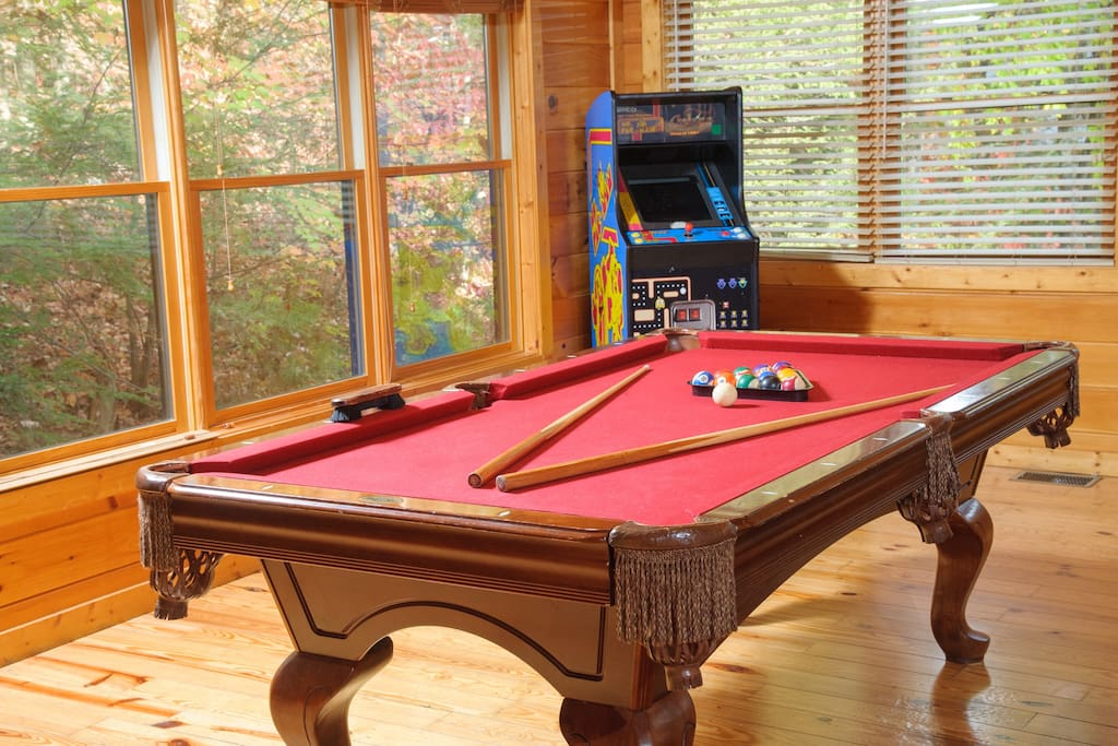 Game room with pool table, multi-game arcade and foosball (not pictured)