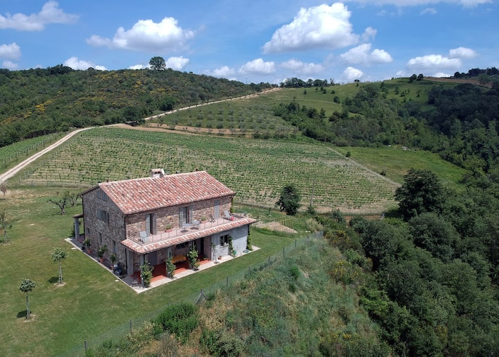 nearTodi & Orvieto: ValDoglio casa 6rooms-view360°