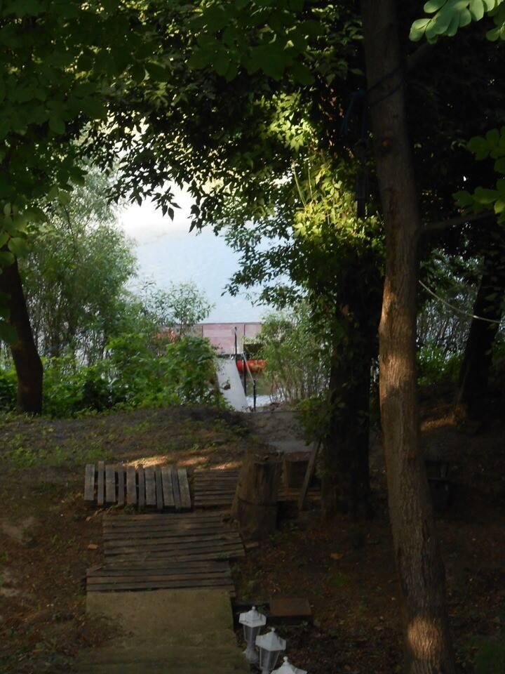 Horgásznyaraló az élő Tisza partján