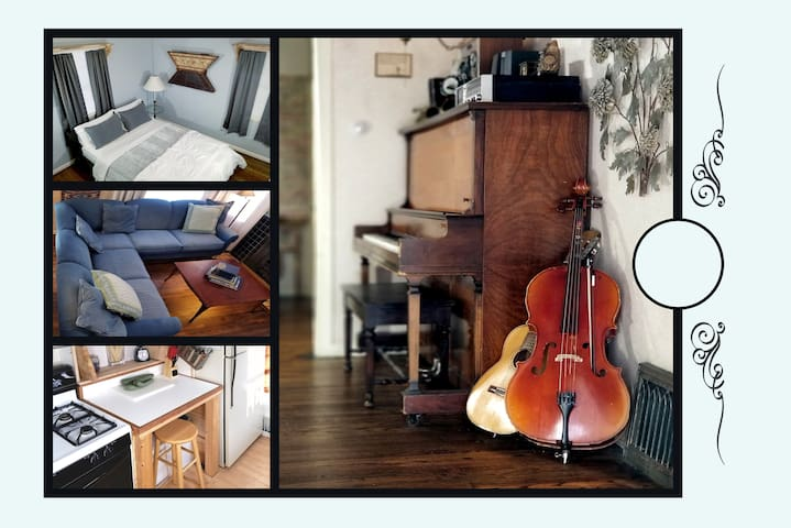 ▷ ˯Private Room, Charming Urban Cottage