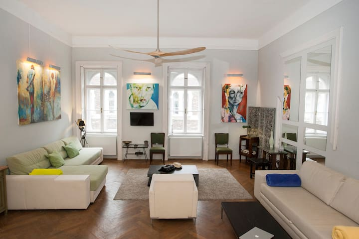 Welcome to Budapest  Arty Loft, 82 sqm flat!
