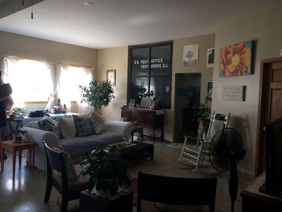 Open floor plan, huge living room.