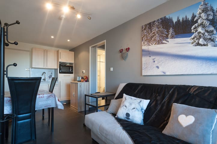 PLAGNE CENTRE Beautiful 1 br flat last floor - Mâcot-la-Plagne - อพาร์ทเมนท์
