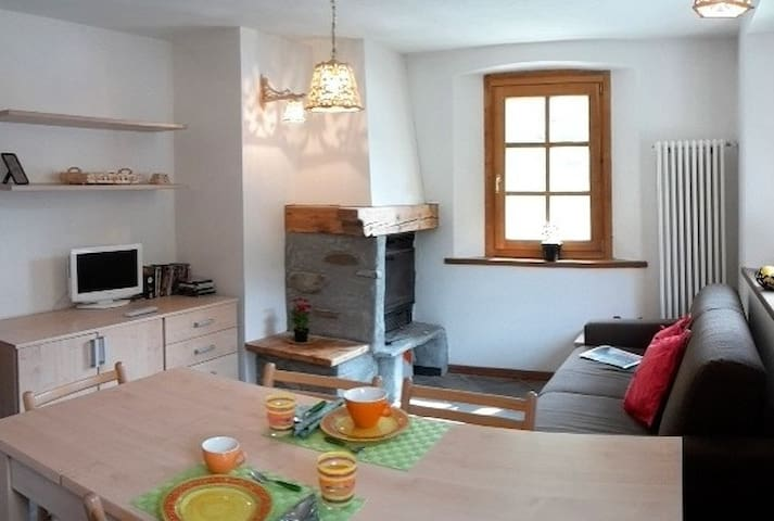 Cosy apartment in Champorcher, near the ski slopes - Champorcher - Huoneisto