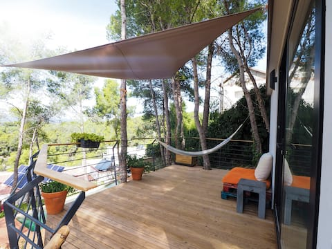 """Tiny house Olivella"" (Lou) near Sitges"