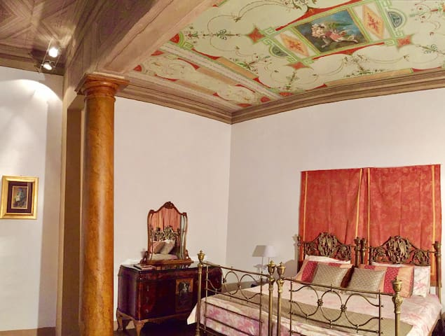 Frescoed open space apt in the very center
