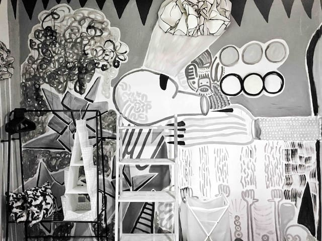 独立房间R|大风吹的艺术空间|艺术体验Art studio|美兰湖地铁Line7|别墅单间