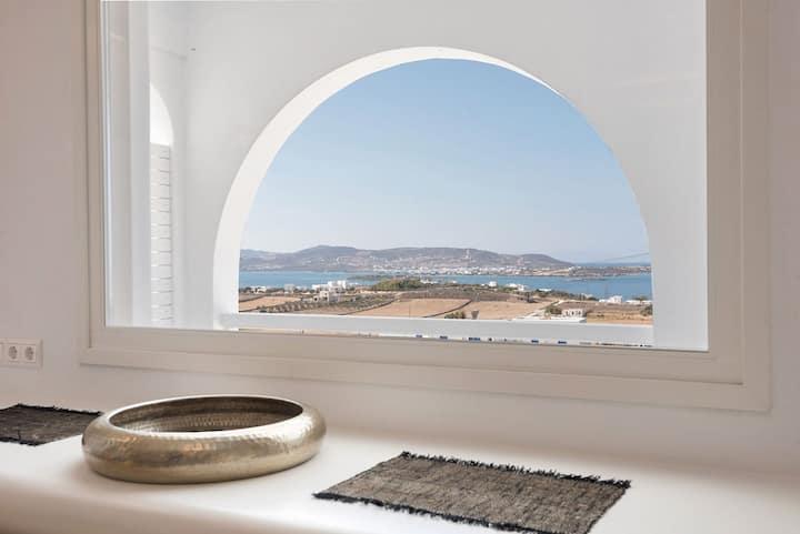 Anna Platanou Luxury Suite Sea View-OutdoorJacuzzi