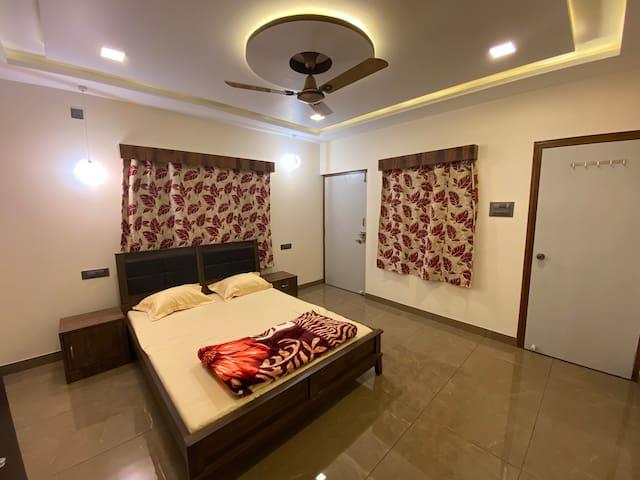 Bedroom No. 1 with En-suite Washroom No. 1 with Air Conditioner.