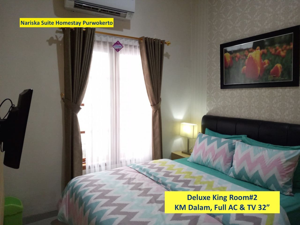 Deluxe King Room#2, Full AC and TV 32""