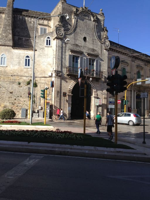 Street View Bari Gate. Parking is available here. No car parking is allowed in the historic section of Altamura.