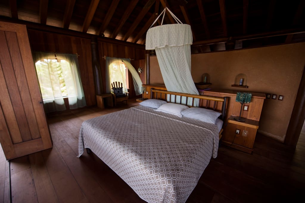 spacious master bedroom with beautiful sea breeze.