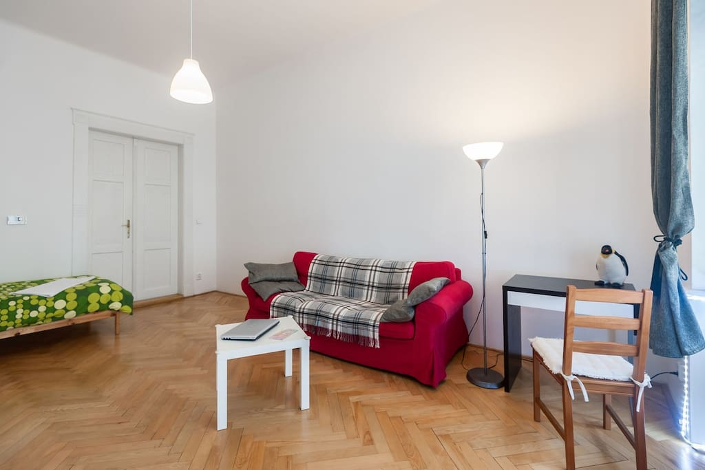 Comfortable sofa and working table