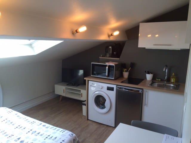 Studio tout équipé proche de la gare - Valenciennes - Appartement