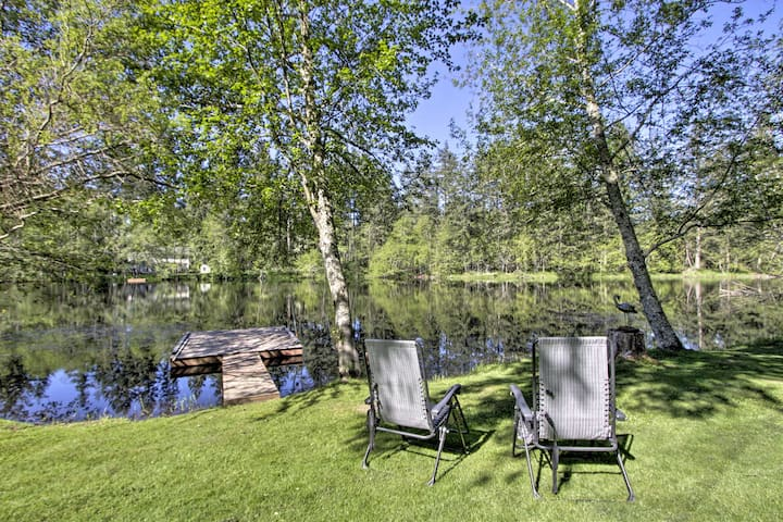 Quiet Lakefront Olympia Home w/Dock on ½ Acre