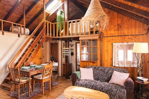 Cabaña de madera a 50 min de Barcelona