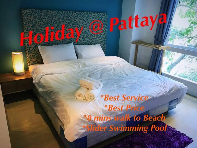 (New) Pattaya Water Park Resort,/near BEACH/7-11 - Pattaya - Apartment