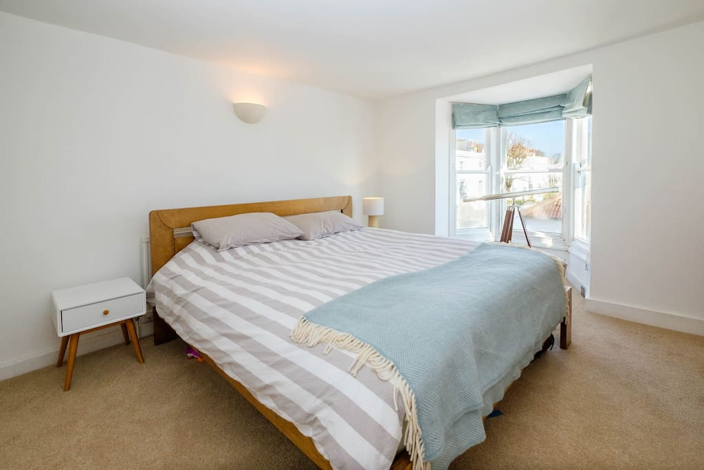Bedroom 1 with large double bed