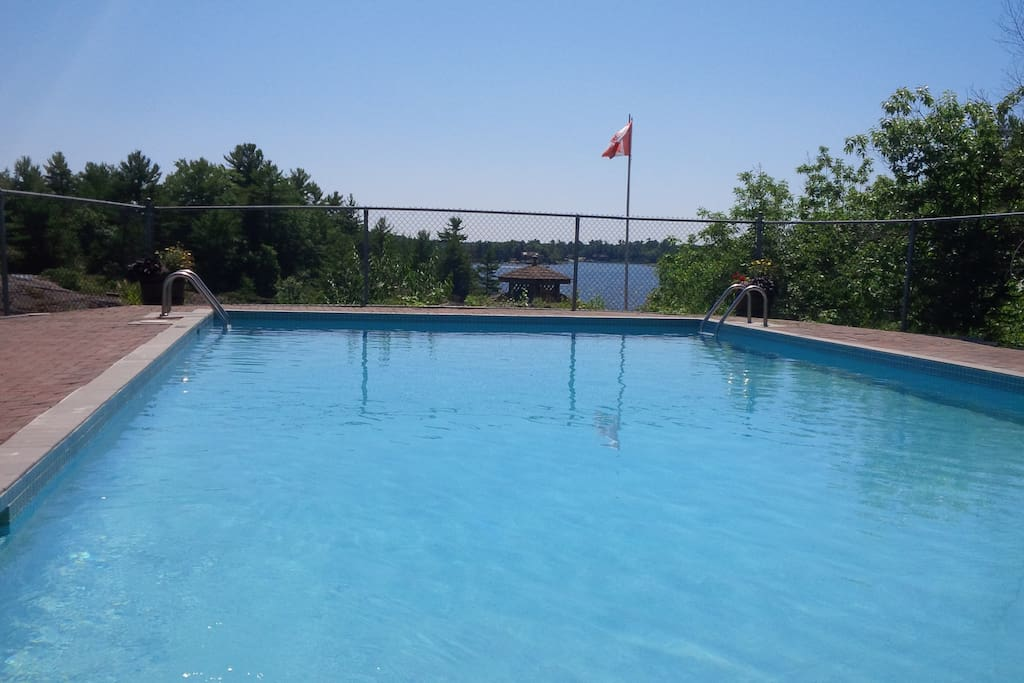 Shared swimming pool and view