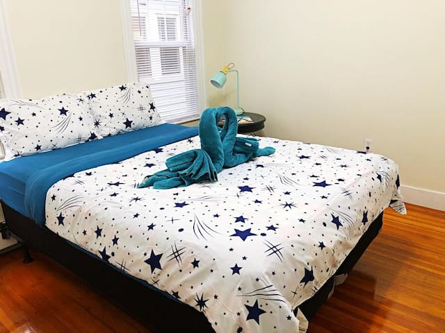 1-3 ★ALLSTON★ 3 Mins to Green Line T - Cozy Room