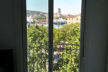 Private room with great views of the port and sea!