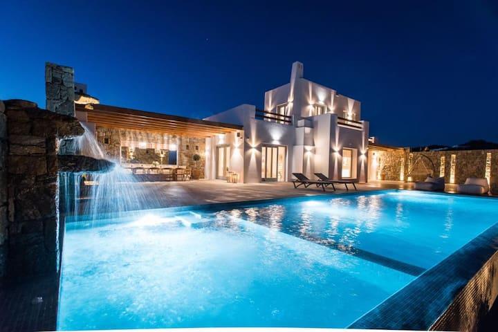 Sea View Brand New Mykonos Villa -Next to Ano Mera