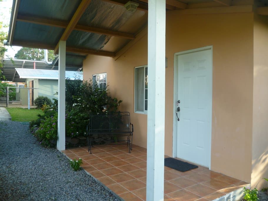 The front of the guest house.