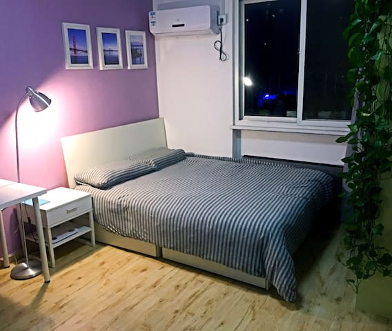 市中心整洁卧室Room-A,出门就是地铁,毗邻美国大使馆、朝阳公园、三里屯