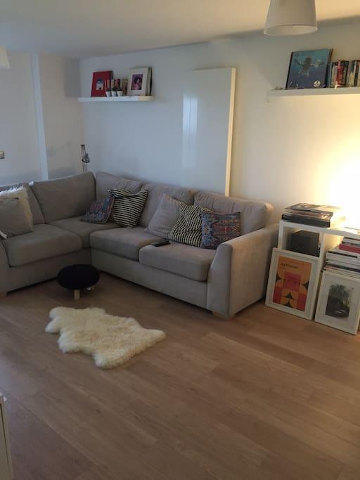 Corner sofa bed (sleeps 2)