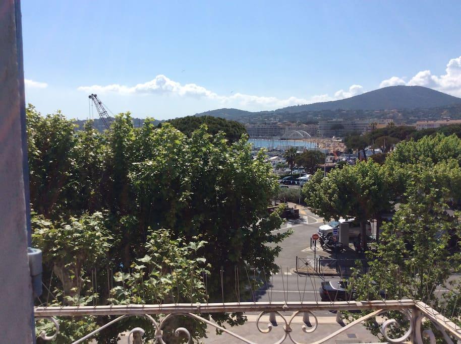 View from Balcony towards Marina & Beach