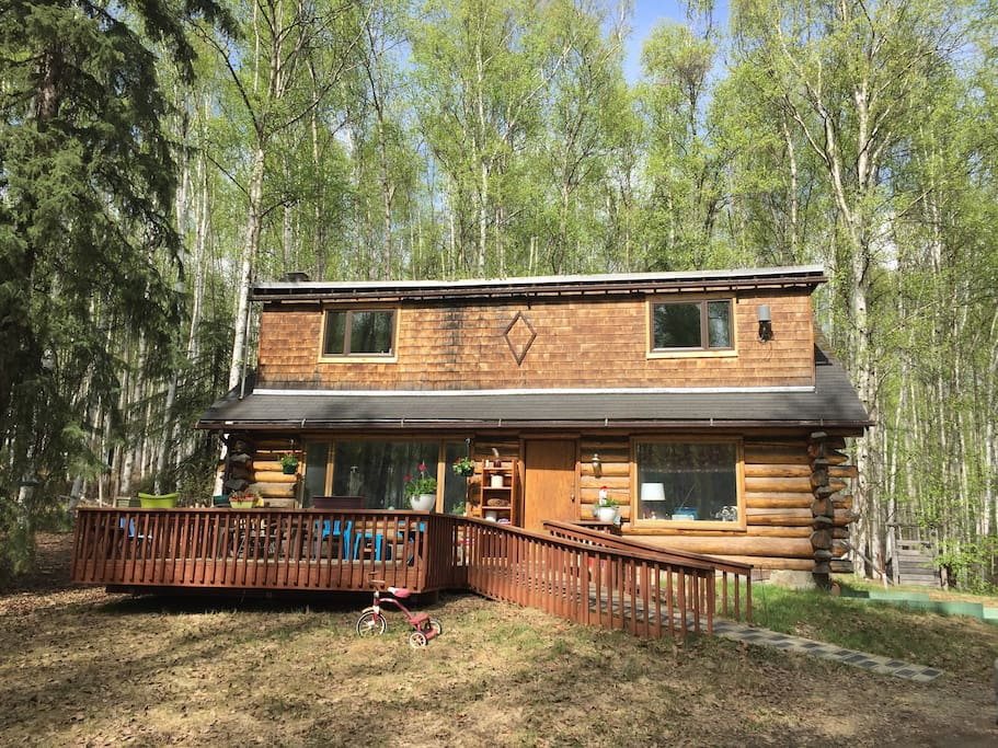 Log House In Birch Woods I Large Bedroom Cabins For