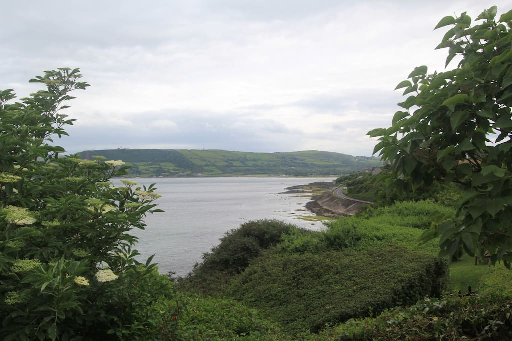 View of Carnlough Bay from apartments
