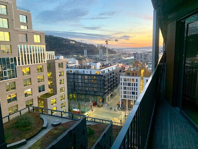 Barcode Sky Apartment. Close to Oslo Central S