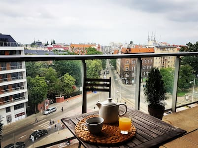 Top floor loft central Wroclaw,free garage,terrace