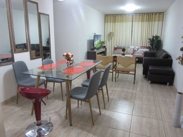 Furnished flat near trekking/biking areas in Lima