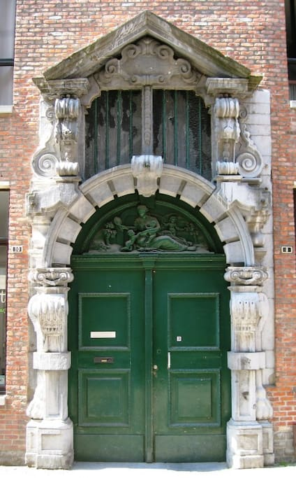 "Old entrance ""Den Spieghel"""