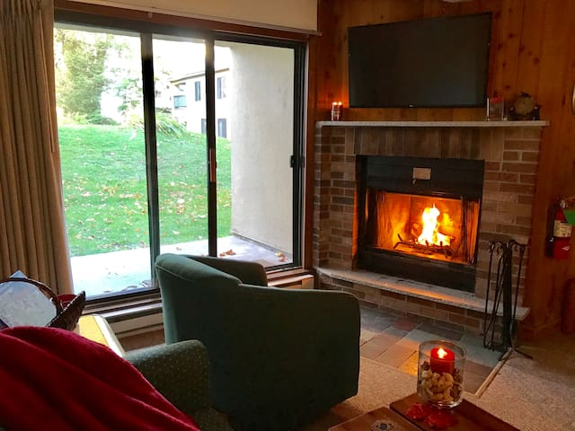 Wood Burning fire place   Full Cable TV   Free Wifi   Easiest Walk out unit