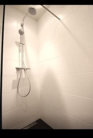 Shower with bathroom