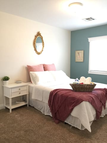 Private Bedroom & Bath in home with keyless entry