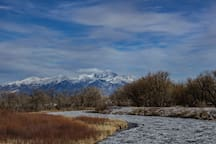 Your surroundings-Mt. Blanca (14,345') and the Rio Grande River.