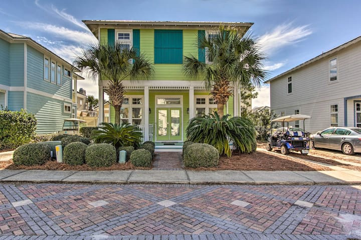 Blue Mtn Beach Home W/Golf Cart: Walk/Cart to Gulf