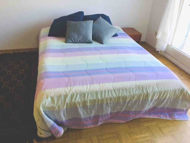 Master Bedroom. Bed for two, with ergonomic mattress for comfort.