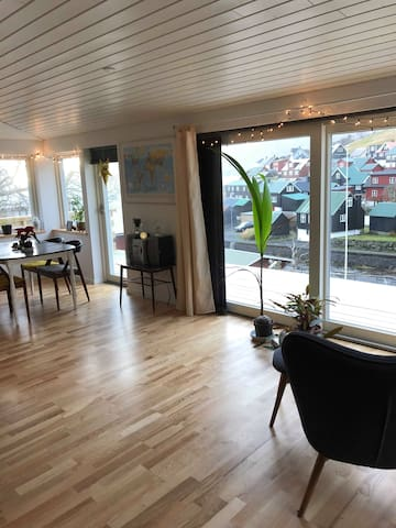 Bright apartment in the center of Kvívík