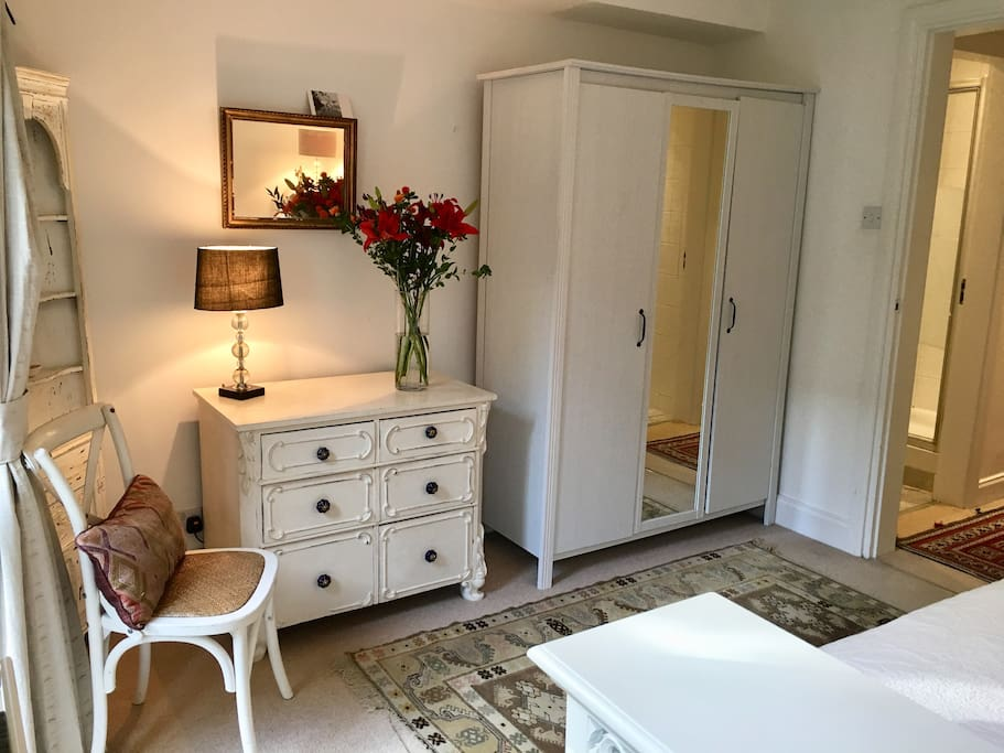 Chest of drawers & hanging cupboard with plenty of storage space