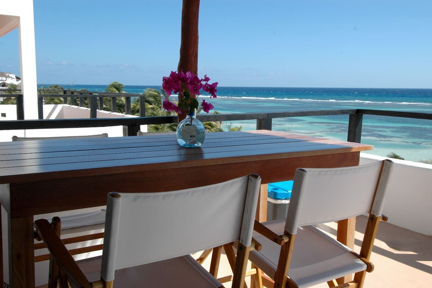 Outdoor Dining Table on Penthouse Balcony