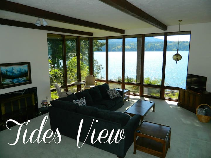Tides View Waterfront Retreat with Private Beach