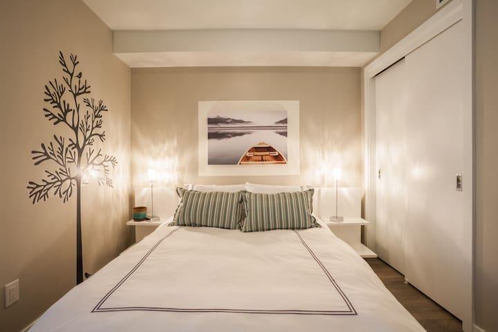 Your cozy bedroom.