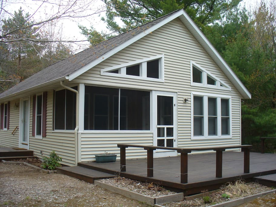 Back deck with sunroom